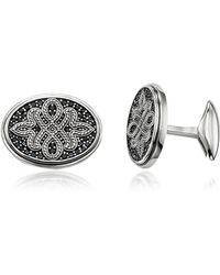 Thomas Sabo Blackened Sterling silver Love Knot Cufflinks - Mettallic