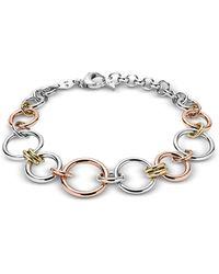 Fossil - Tri-tone Circle Women's Bracelet - Lyst