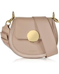 Le Parmentier Yucca Suede And Leather Shoulder Bag - Natural