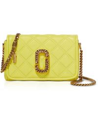 Marc Jacobs The Status Flap Quilted Leather Shoulder Bag - Amarillo