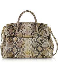 Ghibli - Python Leather Large Satchel Bag - Lyst