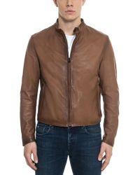 Forzieri   Brown Leather Men's Biker Jacket   Lyst