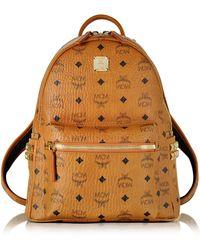 MCM - Stark Small Cognac Backpack - Lyst