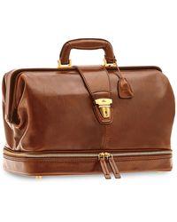 The Bridge Story Uomo Genuine Leather Doctor Bag - Brown