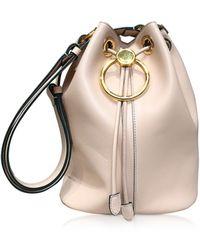 Marni Genuine Leather Drawstring Bucket bag - Rosa