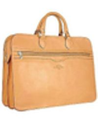 Robe Di Firenze - Women's Sand Double-gusset Soft Leather Briefcase - Lyst