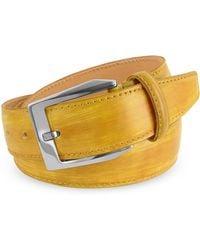Pakerson Herrengürtel aus italienischem Leder von Hand gefärbt - Gelb