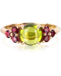 Mia & Beverly Ring in rosegold mit Saphiren und Peridot - Mettallic