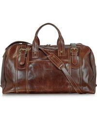 Chiarugi - Large Brown Italian Leather Holdall Bag Travel Bag - Lyst