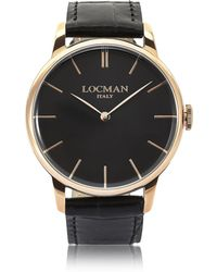 LOCMAN - 1960 Rose Gold Pvd Stainless Steel Men's Watch - Lyst