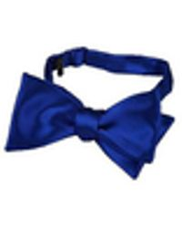 FORZIERI Blue Solid Silk Self-tie Bowtie