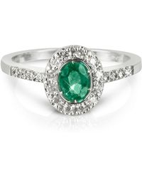 FORZIERI Emerald And Diamond 18k White Gold Ring - Green