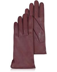 FORZIERI - Women's Burgundy Cashmere Lined Italian Leather Gloves - Lyst