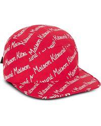 Maison Kitsuné - Maison Kitsune 5P Baseball-Mütze aus Baumwoll-Canvas - Lyst