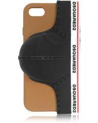 DSquared² - Black Silicone Signature Iphone 7 Cover W/briefs - Lyst