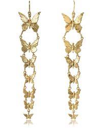 Bernard Delettrez Butterflies Ohrringe aus Bronze - Mettallic