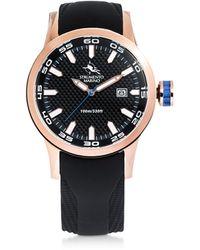Strumento Marino Black & Gold Speedboat Stainless Steel Men's Watches - Negro