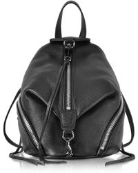 Rebecca Minkoff - Black Leather Convertible Mini Julian Backpack - Lyst