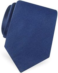 FORZIERI - Gold Line Solid Classic Woven Silk Tie - Lyst