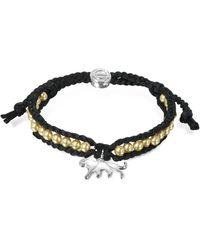 Sho London - Jaguar Friendship Silk Bracelet - Lyst