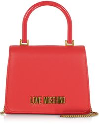 NWT LOVE Moschino Quilted Handle Satchel Bag $314  in Red