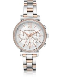 Michael Kors Sofie Pavé Two-tone Women's Watch - Metallic