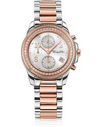 Thomas Sabo - Glam Chrono Silver And Rose Gold Stainless Steel Women's Watch W/crystals - Lyst