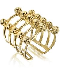 Bernard Delettrez - Cage And Skulls Bronze Ring - Lyst