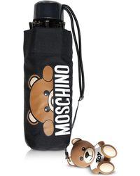 Moschino - Hidden Teddy Bear Black Supermini Umbrella - Lyst