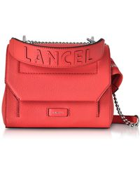 Lancel - Coral Ninon Round Leather Small Flap Bag - Lyst