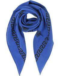 90x90 Écharpe Dragon Dans Versace De Soie Bleu Et Blanc T5dDNtR5Ow