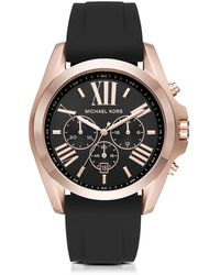 Michael Kors - Bradshaw Rose Goldtone Stainless Steel Men's Chronograph Watch - Lyst