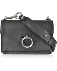 Rebecca Minkoff Black Caviar Leather Jean Xbody Bag