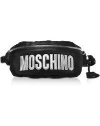 Moschino Marsupio Nero in Nylon con Logo