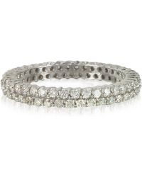 FORZIERI - Diamonds Eternity Double Band Ring - Lyst
