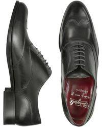 Fratelli Borgioli - Handmade Black Italian Leather Wingtip Oxford Shoes - Lyst