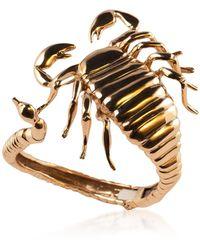 Bernard Delettrez Bronze Scorpio Open Cuff Bracelet - Metálico
