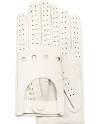 Forzieri | Women's Perforated Italian Leather Driving Gloves | Lyst