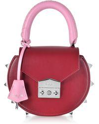 Salar Red Leather Shoulder Bag