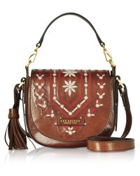 The Bridge - Fiesole Embroidered Leather Shoulder Bag - Lyst