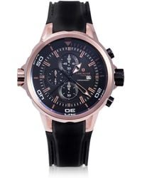 Lancaster - Space Shuttle Rose Gold Pvd Stainless Steel Chronograph Watch - Lyst