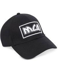 McQ Metal Logo Cotton Baseball Cap - Schwarz