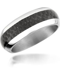 Zoppini - Zo Dark - Carbon Fiber & Stainless Steel Band Ring - Lyst