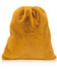 MM6 by Maison Martin Margiela Faux-fur Drawstring Bag - Yellow