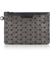 Jimmy Choo - Smoke/black Derek/s Small Clutch W/stars - Lyst