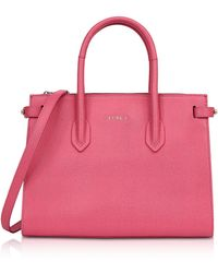 Furla - Ortensia Leather E/w Pin Small Tote Bag - Lyst