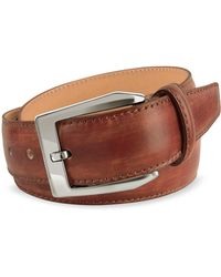 Pakerson - Men's Brown Hand Painted Italian Leather Belt - Lyst