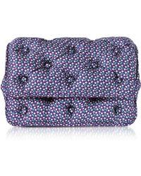 Benedetta Bruzziches - Turtles Printed Violet Satin Silk Carmen Shoulder Bag - Lyst