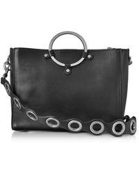 Rebecca Minkoff | Black Leather Ring Satchel Bag | Lyst