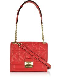 Karl Lagerfeld K/Kuilted Studs Small Handbag - Rojo